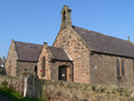 St Peter's Church and the Village Hall